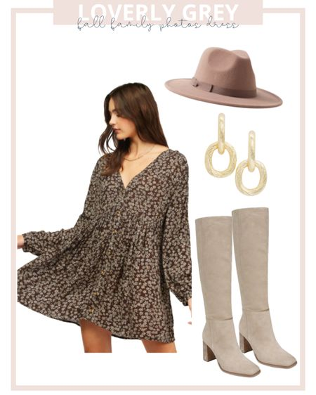 Fall family photos dress for mom. Pair with suede knee high boots and have the kids in solid neutral colors!   #LTKstyletip #LTKfamily #LTKunder100