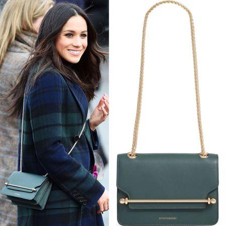 Meghan wearing Strathberry bag #crossbody #chainbag #purse   #LTKitbag