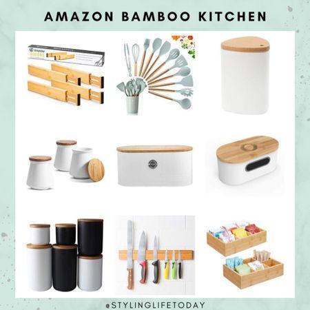 Amazon home. Bamboo kitchen. Storage solutions . Organizers. Pantry. Organization. Organized  #LTKhome #LTKeurope #LTKunder50