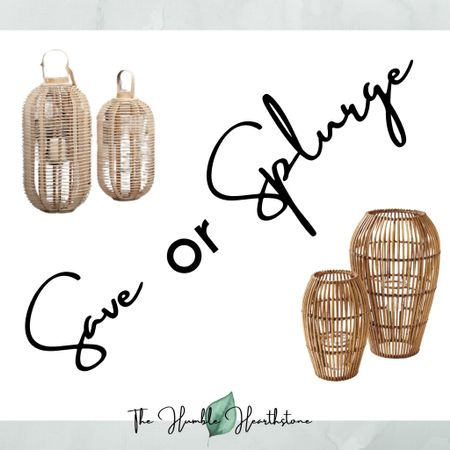 Save or Splurge?  Rattan Hurricane Lanterns for Spring patio and porch updates.  One of these two is #LTKsalealert     http://liketk.it/3dxcr #liketkit #LTKunder100 #LTKhome @liketoknow.it @liketoknow.it.home