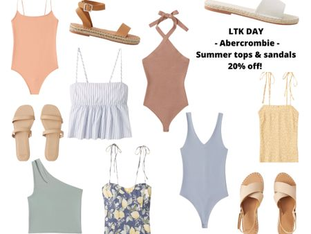 http://liketk.it/3hg0o #liketkit @liketoknow.it #LTKDay #LTKsalealert #LTKshoecrush  Found some super cute Summer essentials from Abercrombie. Adorable tops for all your shorts and skirts! Also Linked to match sandals 💕  Comes in other colors and sizes as well.  Get 20% off in app purchases until June 13th.  Code: LTKAF2021  Price ranges: $30-$60