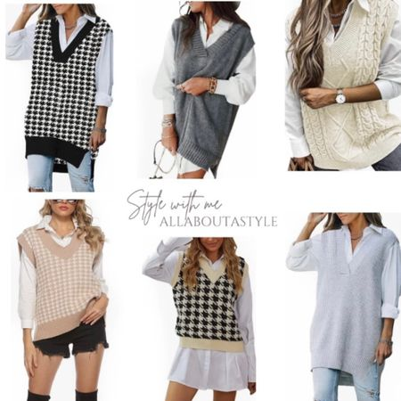 #Trending Oversized vest sweaters.  Follow my shop on the @shop.LTK app to shop this post and get my exclusive app-only content!  #liketkit #LTKGiftGuide #LTKSeasonal #LTKHoliday @shop.ltk http://liketk.it/3ofhk