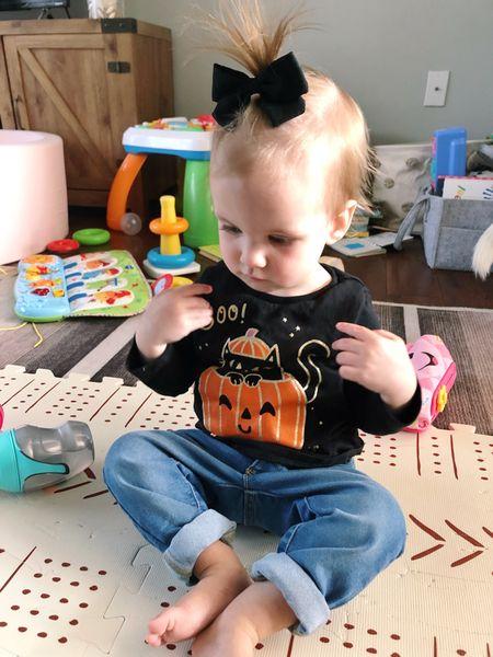 Pearl's rocking her new Halloween shirt! Boo! ❤️🎃  #LTKfamily #LTKbaby #LTKbump