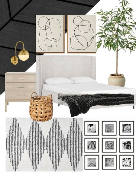 Master bedroom inspo - home decor from amazon and target           Master bedroom , target style , target finds , amazon home , amazon finds , night stand , rug , area rug , home furnishings , headboard , wall art , bedroom decor , living room decor ,   #LTKunder100 #LTKstyletip #LTKhome
