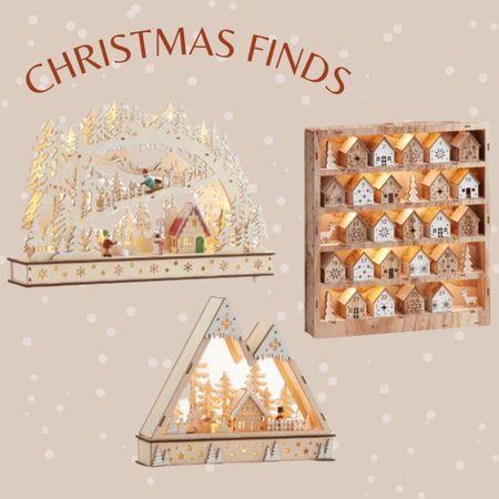 Wooden Christmas advent calendar, retro wooden Christmas scene   #LTKunder50 #LTKhome #LTKstyletip