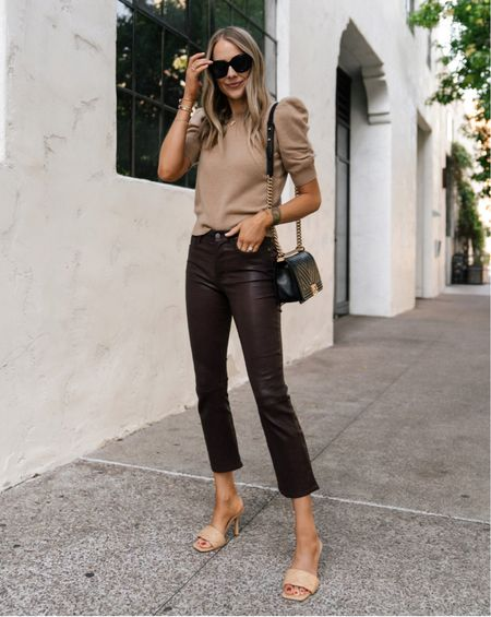 Love these leather pants for fall! They fit so well and can be dressed up or down #falloutfits #sweaters  #liketkit #LTKstyletip #LTKsalealert #LTKworkwear @shop.ltk http://liketk.it/3p0Jk