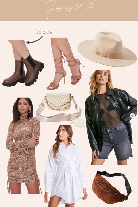 Forever 21 finds Fall Hats Crossbody bags  Faux leather Shacket Jacket Boots  Booties    #LTKunder50 #LTKstyletip #LTKSeasonal