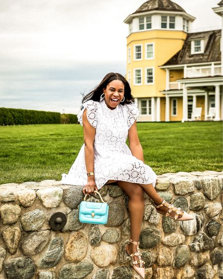 Hey guys, it's Monica from @awedbymoni ! A fashion must for spring/summer 2021 is a white eyelet dress. I love a dress that makes me smile and the Victoria dress does just that! Shop this must have dress from the new @sailtosable X @jenniferlake collection on the @liketoknow.it http://liketk.it/3eYmJ #liketkit