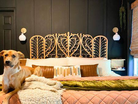 Moody bedroom http://liketk.it/3fwHH #liketkit @liketoknow.it #LTKhome @liketoknow.it.home #bedroom #rattan