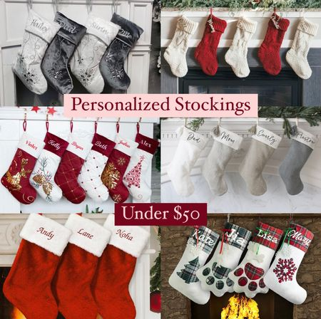 Pretty stockings can really take your holiday decor to the next level! All of these can be personalized and are under $50.   #LTKunder50 #LTKHoliday #LTKhome