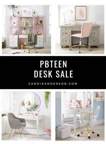 Best PBteen desks sale! White desk sale. Bowel from home desk. Back to school desk. Organization, students, business owner. ❤️  #LTKhome #LTKbacktoschool #LTKsalealert