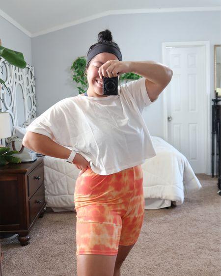 amazon finds. casual biker shorts outfit. boohoo http://liketk.it/2Wxcv #liketkit @liketoknow.it