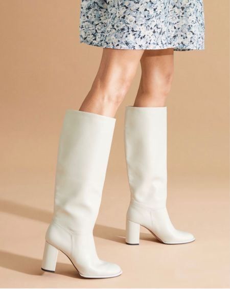 The cutest white boots under $100!
