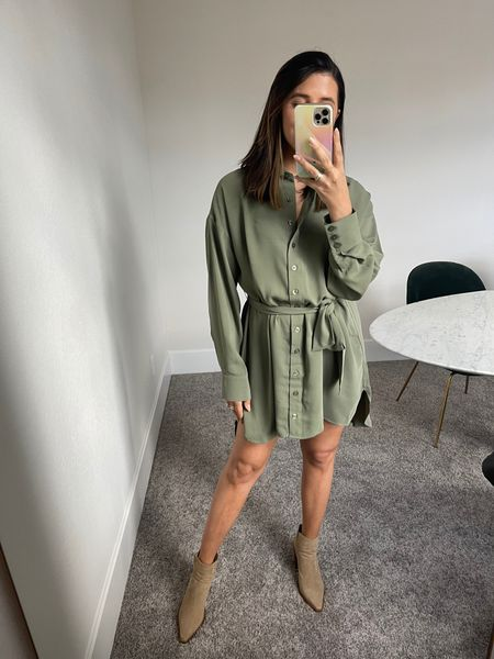 This forever 21 dress is bomb quality & lays so nicely on. Such a pretty green color too!   #LTKstyletip #LTKsalealert #LTKunder50