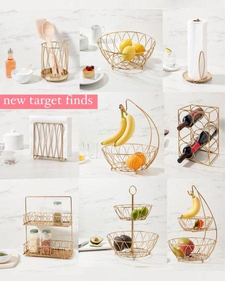 New target finds! ✨✨Scroll down to shop ✨✨ Gold kitchen accessories, target home, target new arrivals, gold spice rack, gold paper towel holder, gold napkin holder, gold fruit bowl, threshold, home decor, deal days, gold bowl @liketoknow.it #liketkit http://liketk.it/3i0u8 #LTKstyletip #LTKhome #LTKunder50