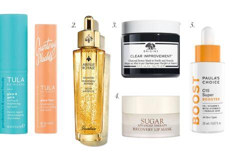 Fall skincare refresh. Eye brightest. Dark circle reducer. Facial serum. Natural beauty products. Face mask. Lip treatment. Anti-aging. Vitamin c serum.  #LTKunder50 #LTKunder100 #LTKbeauty