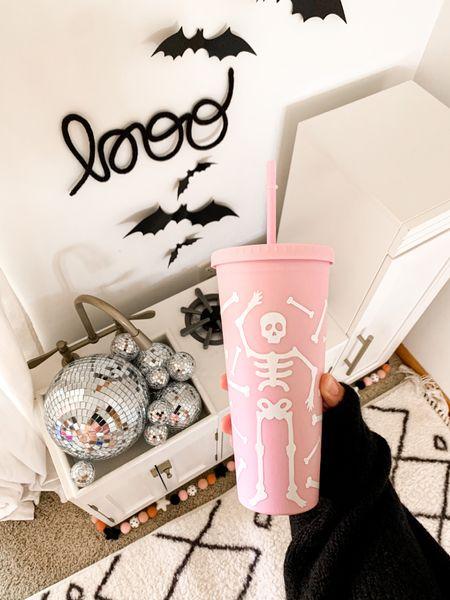 Halloween, boo, cup, skeleton, disco balls, playroom, decor   #LTKSeasonal #LTKhome #LTKfamily