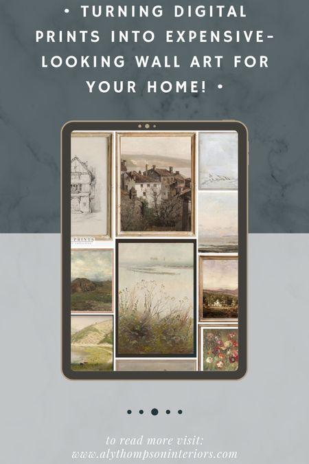 Digital Prints from Etsy to make expensive looking art for your home!   #LTKSeasonal #LTKsalealert #LTKunder50