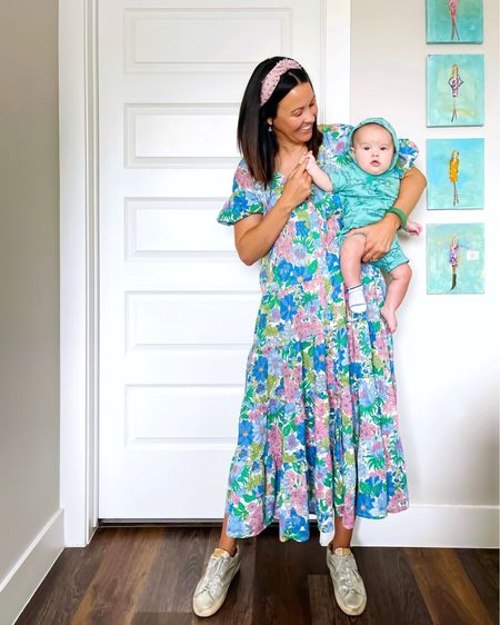 The most comfortable summer floral dress on sale! Dress runs big. I'm wearing a medium and it's quite roomy. Very lightweight cotton. Comes with a waist tie but I like wearing it without that. On sale for $58!    #LTKsalealert #LTKunder50 #LTKSeasonal