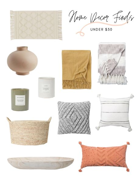 Home decor finds under $30! You can't go wrong with any of these home decor accessories. Throw blankets, vases, candles, storage basket, and throw pillows! Shop any of these items: http://liketk.it/3bx2N @liketoknow.it #liketkit @liketoknow.it.home #LTKunder50 #LTKhome #LTKstyletip