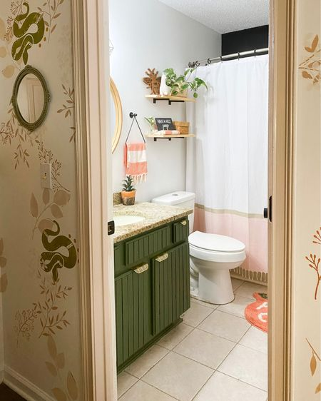 Colorful bathroom http://liketk.it/3iSTn #liketkit @liketoknow.it #LTKhome #LTKunder50 @liketoknow.it.home