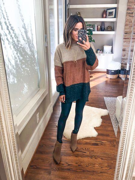 Sweater size s, leggings size Xs petite   #LTKunder50 #LTKunder100 #LTKstyletip