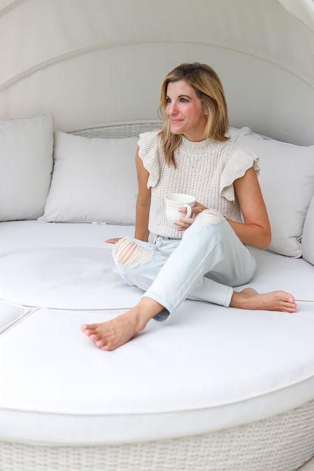 A casual neutral look for everyday, my new fave! Jeans are a size 4 Sweater is a small (could have worn an xsmall too) Entire look for under $45.   #LTKfamily #LTKstyletip #LTKunder50