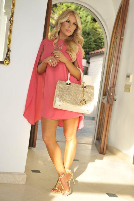 Shop this beautiful pink cape dress! Perfect for going into fall!   #LTKsalealert #LTKSeasonal #LTKstyletip
