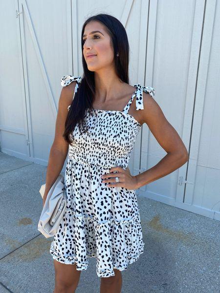Smocked dress from Amazon fashion (medium)   #LTKSeasonal #LTKunder50 #LTKstyletip