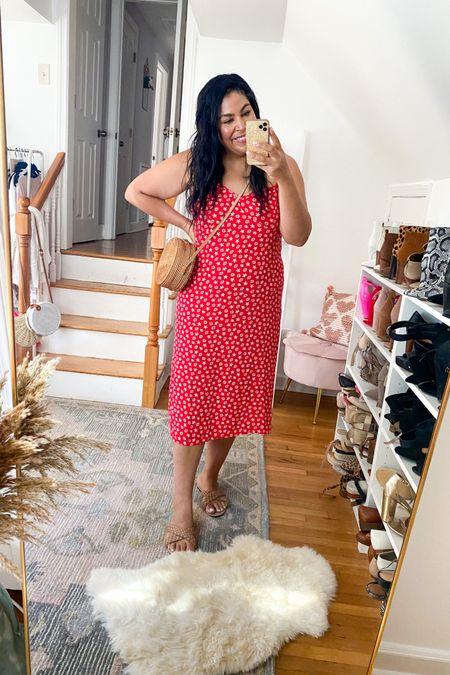 Walmart slip midi dress under $28! Wearing an XL #liketkit #LTKcurves #LTKunder50 #LTKstyletip   http://liketk.it/3hhS1 @liketoknow.it   Walmart fashion, Amazon fashion, amazon accessories, size 12, size 14, midsize, mid size, slip dress, midi dress, summer outfit, summer dress, lightweight dress, plus size