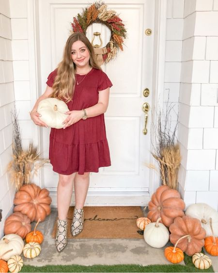 That Fall Feeling 🍂  •  Download the LIKEtoKNOW.it app to shop my dress and boots, they both come in a bunch of different colors too!   http://liketk.it/2FU78 #liketkit @liketoknow.it #LTKunder50 #LTKshoecrush