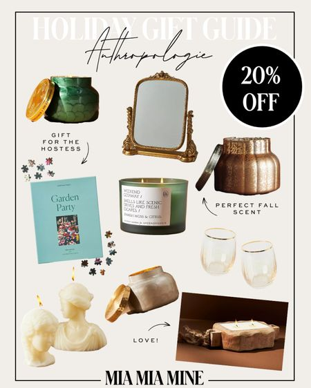 Anthropologie candles on sale this weekend only - take 20% off Holiday gifts for the hostess Holiday home gifts   #LTKunder100 #LTKhome #LTKGiftGuide