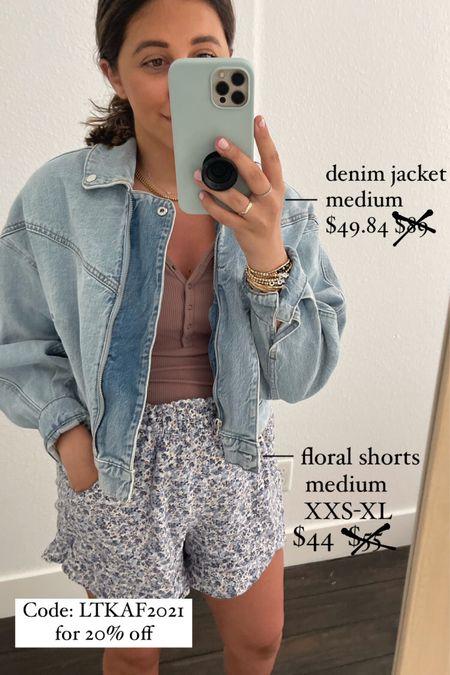 Code: LTKAF2021 for 20% off   Jacket: Medium Shorts: Medium  #LTKstyletip #LTKDay #LTKsalealert