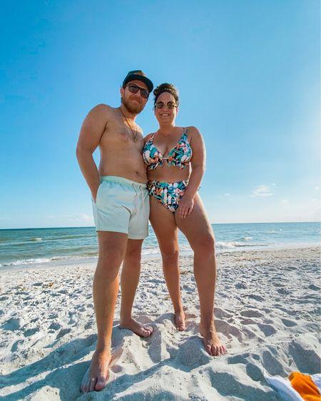 Ruffled swimsuit // high waisted bikini // tropical bikini // tan fedora // fedora hat // Lulus hat // Amazon swimsuit    @liketoknow.it #liketkit http://liketk.it/34oVA #LTKswim #LTKtravel #LTKunder50
