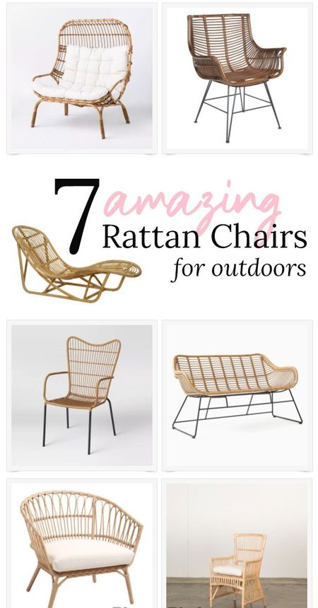 These are the best outdoor rattan chairs for 2021. there are sun loungers, accent chairs, dining chairs, and benches.