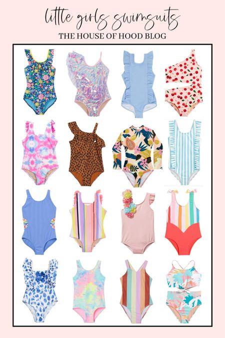 Girls one piece swim suits!   #LTKkids #LTKfamily #LTKswim