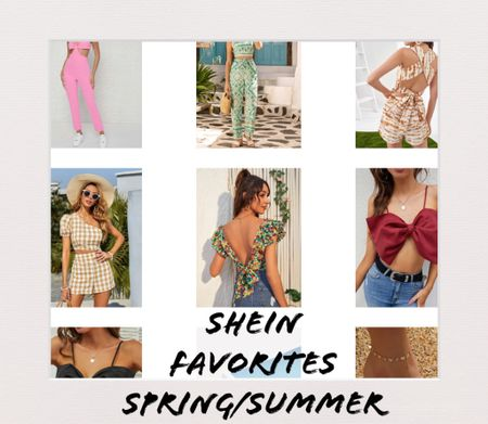 Shein Spring/Summer favorite  Dresses, crop top, footwear, bow sandals, hat, beach coverups   #LTKshoecrush #LTKSeasonal #LTKunder50