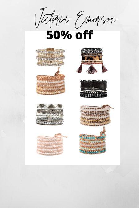 Victoria Emerson/ 50% off/ Cuff bracelets Shop your screenshot of this pic with the LIKEtoKNOW.it shopping app http://liketk.it/32QkZ #liketkit @liketoknow.it #LTKgiftspo #LTKsalealert #LTKunder50