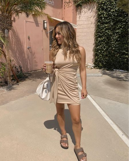 @amazonfashion came through with this simple summer dress under $30!🤎 linked my whole outfit in my bio. #ootd #founditonamazon   #LTKfit #LTKitbag #LTKunder50