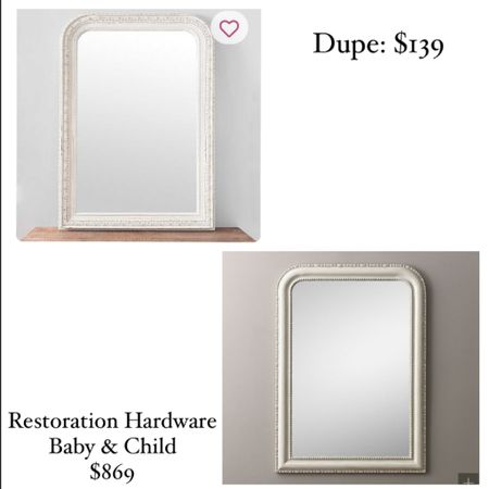 Home decor Nursery decor Nursery mirror Kids room Little girl room Restoration hardware Pottery barn baby Baby Baby registry Kirklands Dupe Look alike  http://liketk.it/38FE5 #liketkit @liketoknow.it #LTKbaby #LTKhome #LTKsalealert