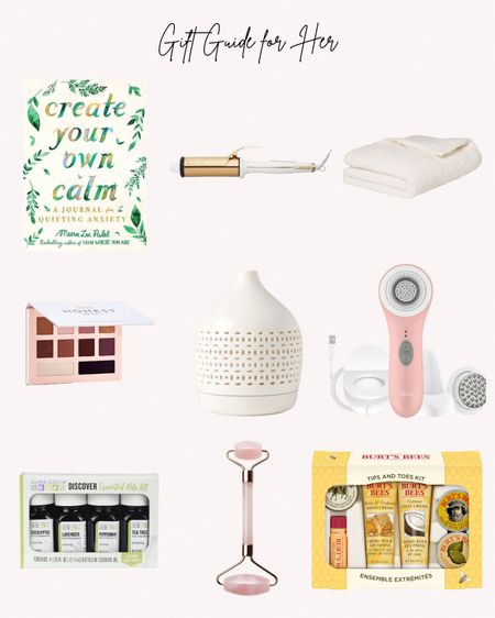 Journal, Burts Bees set, essential oils and diffuser, Honest Beauty, curling iron, weighted blanket   Follow me for more ideas and sales.   Double tap this post to save it for later    #LTKHoliday #LTKGiftGuide #LTKunder50