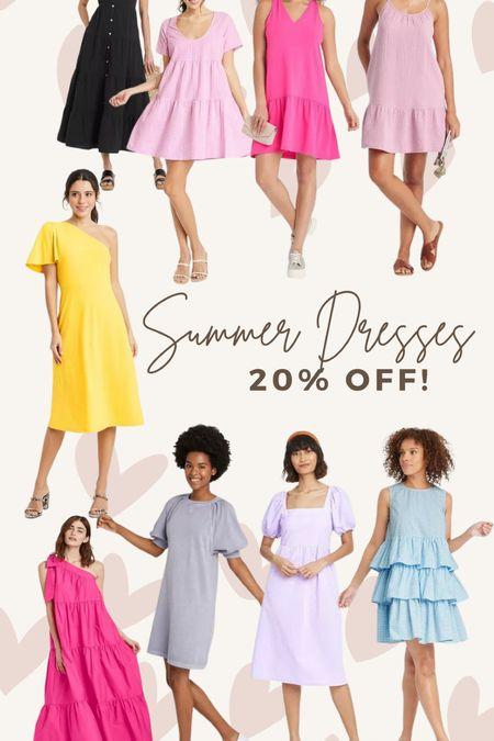 Target finds! all of these summer dresses are 20% off right now!!!   #LTKsalealert #LTKunder50 #LTKwedding