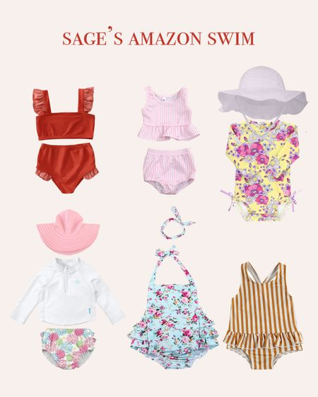 Sage's Amazon Swim! I love finding cute outfits for Sagey on Amazon!! They come so fast and it is so easy! These are some swim options for Sage in my cart right now!! Download the LIKEtoKNOW.it shopping app to shop this pic via screenshot #LTKbaby #LTKfit #LTKswim @liketoknow.it #liketkit http://liketk.it/3jlKo