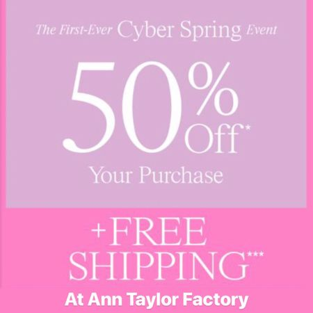 Get free shipping + 50% off your purchase + plus get an extra 10% off when you buy 4+ items at Ann Taylor Factory. Use code CYBER. Excludes first look items. Sale ends 4/14. 🛍 Shop my sales picks @liketoknow.it http://liketk.it/2B6Vo #liketkit #LTKsalealert #LTKspring #LTKunder100 #LTKunder50 #LTKworkwear
