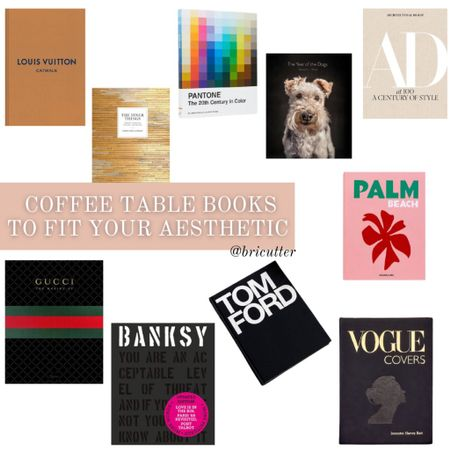Coffee table books to fit your aesthetic! 😍 I need them all   #LTKstyletip #LTKGiftGuide #LTKhome