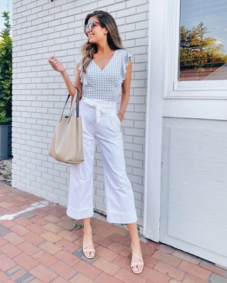 Realizing I wore this shirt backwards 😝.  It's on sale along with the wide leg jeans (size down to 0 tall in the pants, wearing xs in the top).  @liketoknow.it #liketkit http://liketk.it/2RwEw #LTKshoecrush #LTKunder50 #LTKsalealert