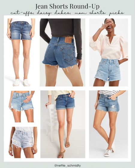 Best Jean shorts roundup 🖤 From high waisted cutoffs to longer Jean shorts, whitewashed or ripped, jeans shorts are the perfect summer outfit staple. Working on the farm outfit, heading to the lake outfit, or just any casual outfit. Levi's .  You can instantly shop my looks by following me on the LIKEtoKNOW.it shopping app http://liketk.it/3hOE6 / #liketkit @liketoknow.it  #LTKunder100 #LTKstyletip
