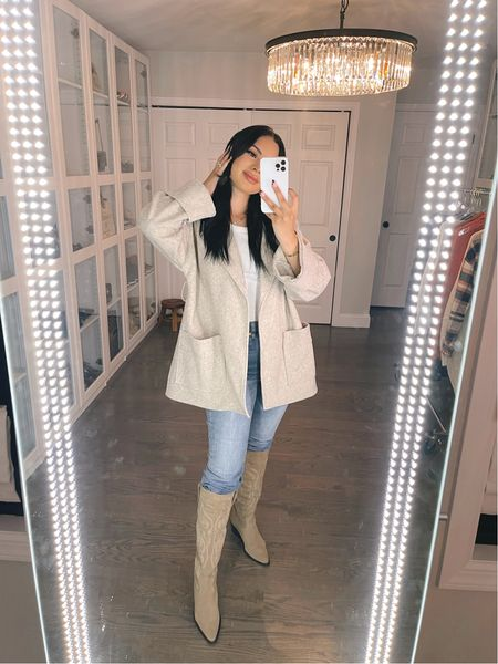 Amazon shacket 😍 wearing size XS   #LTKunder100 #LTKstyletip #LTKSeasonal