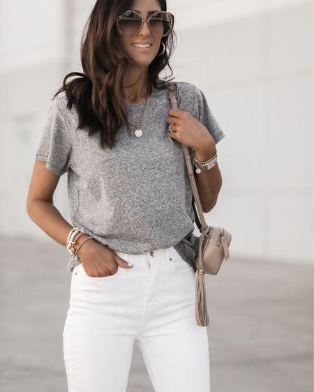 Casual summer look, budget friendly finds, whit jeans, tees, StylinbyAylin @liketoknow.it #liketkit http://liketk.it/3haNp       #LTKDay #LTKstyletip #LTKunder100