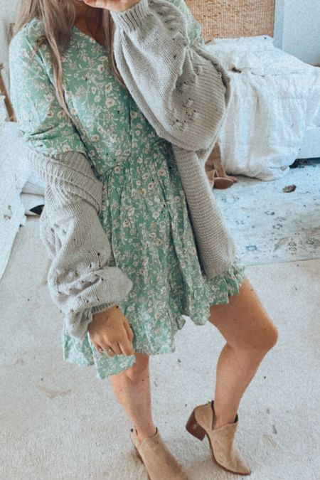 Amazon dress, amazon cardigan #amazonfinds #amazonstyle   #LTKunder50 #LTKSeasonal #LTKstyletip